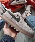 Мужские кроссовки Nike Air Force 1 Mid X Reigning Champ (серые/черный значек) KS 1540, фото 6