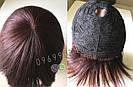 💎Натуральный женский парик баклажановый с чёлкой, натуральный волос 💎, фото 5