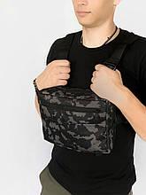 Нагрудна сумка Intruder Сірий камуфляж (1595949281)