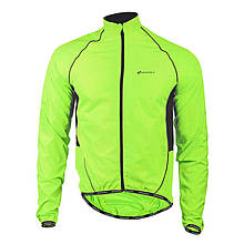 Ветровка велосипедная Nuckily MJ004 Fluorescent спортивная куртка мужская и женская 3XL Салатовый