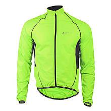 Ветровка велосипедная Nuckily MJ004 Fluorescent спортивная куртка мужская и женская 2XL Салатовый