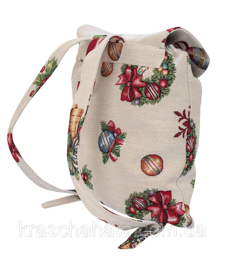 Рюкзак новогодний гобеленовый,  25х37х6 см см, Эксклюзивные подарки, Новогодний текстиль