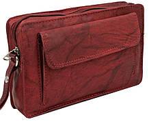 Барсетка-клатч чоловіча з натуральної шкіри Always Wild Червоний (1264BS red)