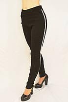 Лосины женские трикотажные на меху Норма и Батал M - 4XL Леггинсы зимние трикотажные с лампасами Nice, фото 3
