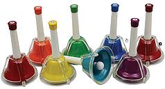 Ручные колокольчики MAXTONE BLA-8C/N 8 штук в наборе (C64-C76)