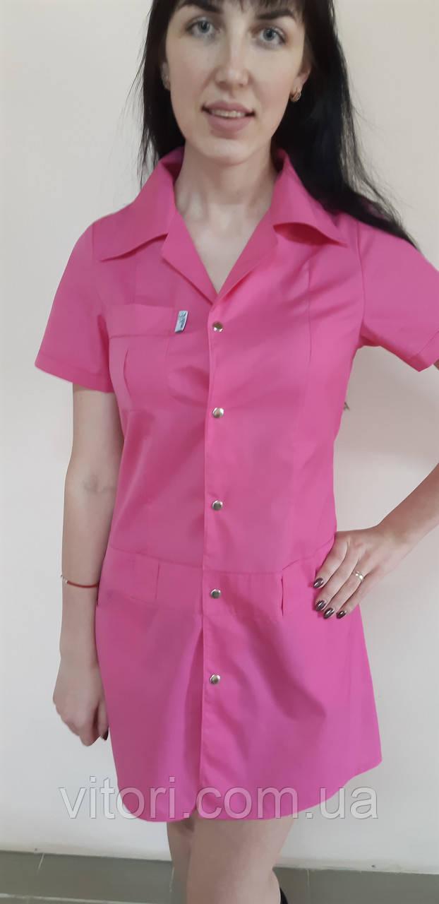 Женский медицинский халат Диско хлопок на кнопках цветной