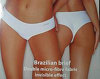 Трусики женские бразилиана La Vivas белые и черные 2 шт в упаковке Размеры M L XL XL