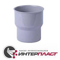Переход ПП 124/110 мм чугун/пластик внутренней канализации Интерпласт Украина