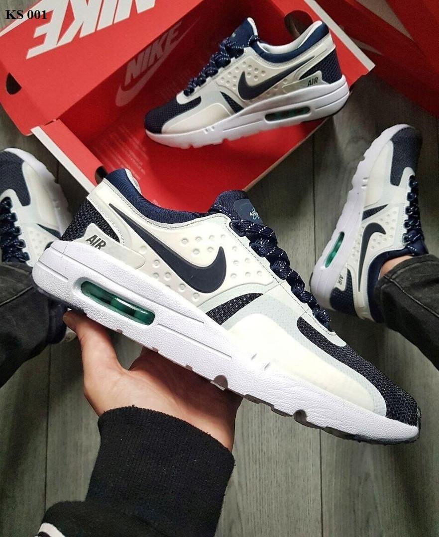 Кроссовки Nike Air Max Zero (сине-белые) KS 001