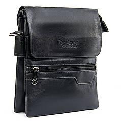Сумка мужская стильная черная на три отдела эко кожа Dr.Bond GL 303-2