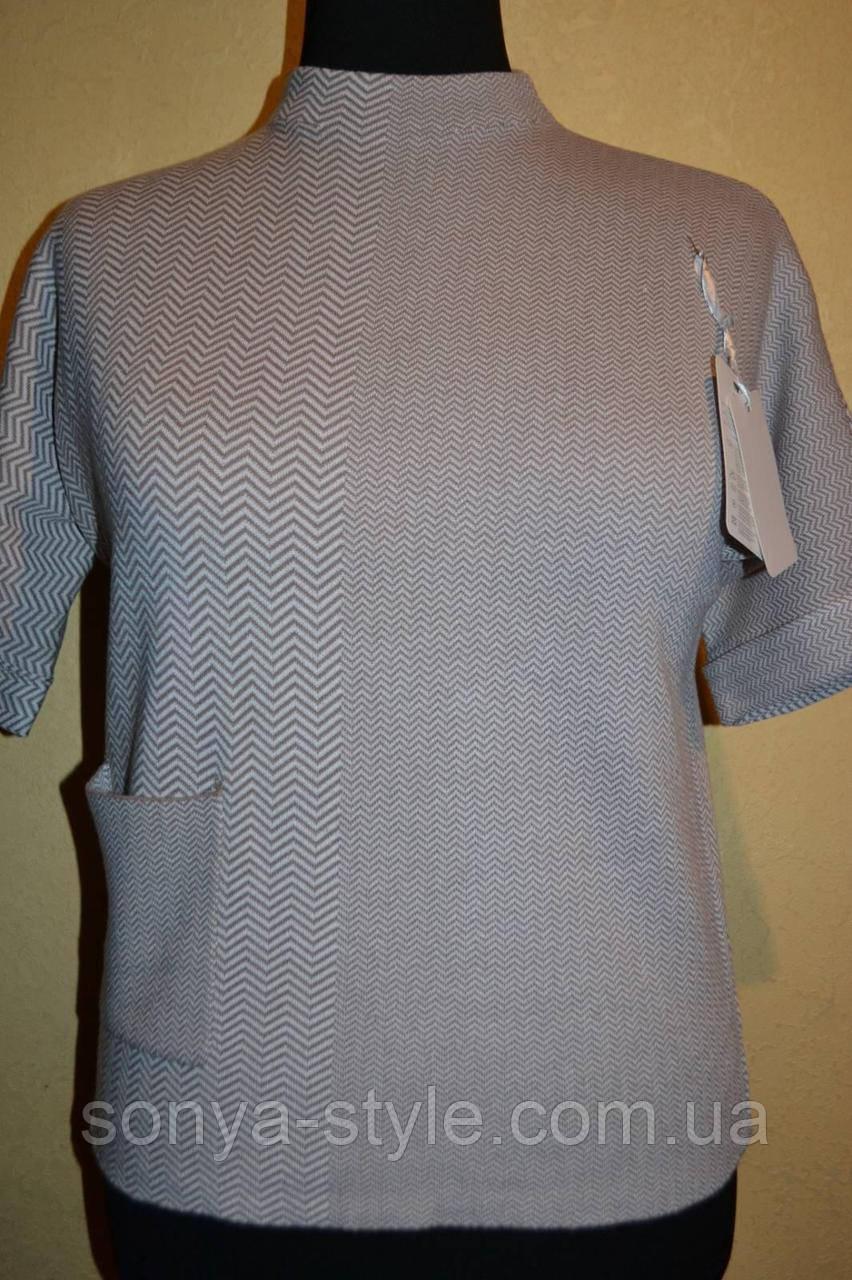 Женские кофты  с карманом    больших размеров