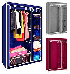 Складной тканевый шкаф на 2 секции Storage Wardrobe 68110
