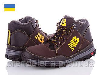 Чоловічі зимові черевики Ankor р40-45 (код 5692-00) Коричневий.