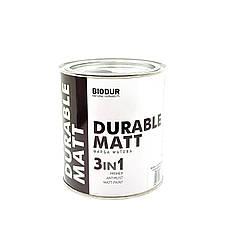 Краска антрацитово-серая матовая для металла 3 в 1 BIODUR 216 0,7л