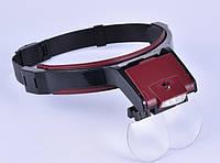 Бинокуляр очки бинокулярные 1.7X, 2X, 2.5X, 3.5 со светодиодной подсветкой MG81001B, фото 1