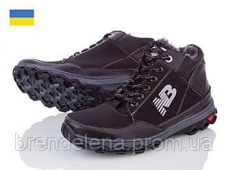 Чоловічі зимові черевики Ankor р40-45 (код 5694-00) Чорний.