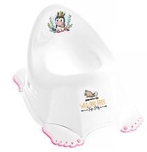KM624777 Горшок Tega Wild & Free Unicorn DZ-001 нескользящая white-pink