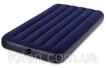 Матрас надувной Intex 64757 с велюровой поверх. до 120кг. размер 99x22x191см