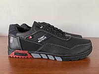 Чоловічі кросівки чорні прошиті ( код 1525 ), фото 1