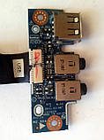 458 Аудио + USB Asus K53B K53T K53U K53Z X53B - DC02001AP00 PBL50/60 LS-7322P LS7322P + шлейф, фото 4