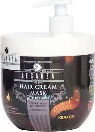 Крем-маска для волос LEGANZA с кератином pump (3800010502818)
