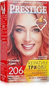 Краска для волос  Престиж 206  Рожевий корал (3800010504096)