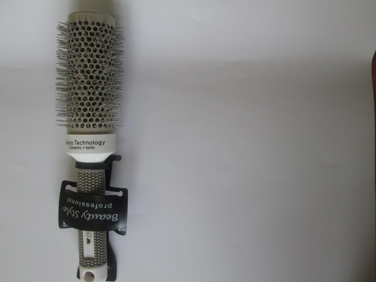 Расческа брашинг  белый 143 F  (43мм) ЭлиТа