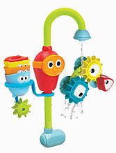 Волшебный кран для ванной с шестеренками, стаканчиками на батарейках. Игры с водой, детский CS 010