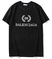 ✔️ Футболка модная с логотипом из хлопка чёрная мужская женская унисекс