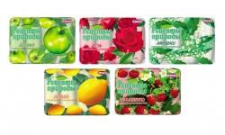 Мыло туалетное Рецепты природы Роза в экопаке (4820003383308)