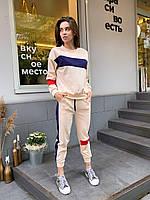Женский спортивный костюм с укороченными штанами на манжетах и свободной кофтой (р. 42-44) 78SP1088, фото 1