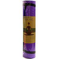 Коврик для йоги и фитнеса Shantou Фиолетовый йогамат 180х61х0,7 см (MS 2129)