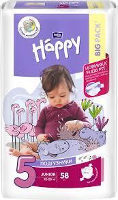 Подгузники детские Bella Baby Happy Junior 12-25 кг 58 шт (5900516601133)