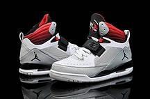 Кроссовки баскетбольные Nike Air jordan Flight 97 кожаные серо-красные