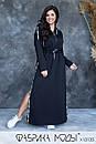 Cпортивное платье в пол с капюшоном, карманами и боковыми разрезами в больших размерах 1ba789, фото 2