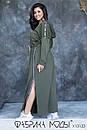 Cпортивное платье в пол с капюшоном, карманами и боковыми разрезами в больших размерах 1ba789, фото 3