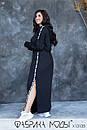 Cпортивное платье в пол с капюшоном, карманами и боковыми разрезами в больших размерах 1ba789, фото 7
