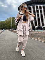Женский костюм двойка - джогеры и кофта свободного кроя из трехнитки (р. 42, 44) 83KO1401, фото 1