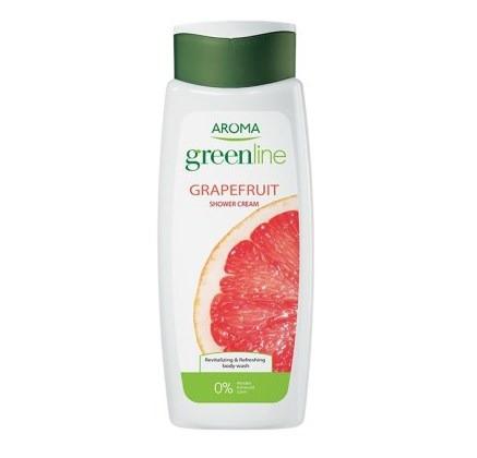 Крем-гель для душа Aroma Greenline Shower Cream Grapefruit 400мл (3800013523384)