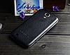 Кожаная задняя крышка черная для Samsung Galaxy S4