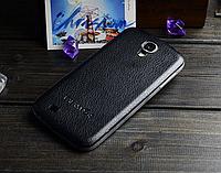 Кожаная задняя крышка черная для Samsung Galaxy S4, фото 1