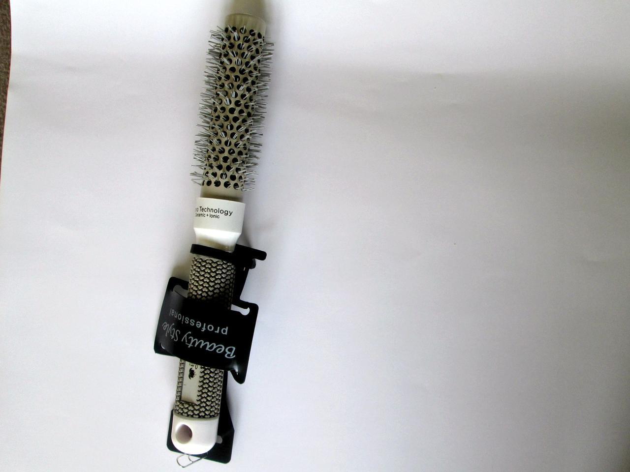 Расческа  брашинг белый 125 F(25мм) ЭлиТа