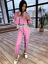 Женский спортивный костюм из плащевки со светоотражающими вставками 66so1086Е, фото 2