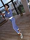 Женский спортивный костюм из плащевки со светоотражающими вставками 66so1086Е, фото 3