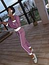 Женский спортивный костюм из плащевки со светоотражающими вставками 66so1086Е, фото 4