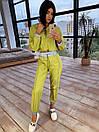 Женский спортивный костюм из плащевки со светоотражающими вставками 66so1086Е, фото 5