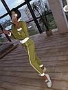 Женский спортивный костюм из плащевки со светоотражающими вставками 66so1086Е, фото 6