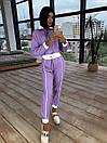 Женский спортивный костюм из плащевки со светоотражающими вставками 66so1086Е, фото 7