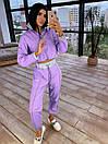 Женский спортивный костюм из плащевки со светоотражающими вставками 66so1086Е, фото 8
