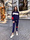 Женский спортивный костюм с укороченными штанами на манжетах и свободной кофтой (р. 42-44) 78so1088, фото 2